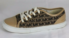 Michael Kors Dee Tee women's sneakers shoes beige laces size 5M - $21.34