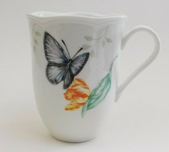 Lenox Butterfly Meadow Coffee Mugs Scalloped Edges Eastern Tailed Blue - $17.82
