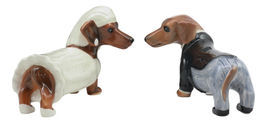 Lovely Wedding Bride and Groom Doxies Salt and Pepper Shaker Set #GFT02 - $34.17