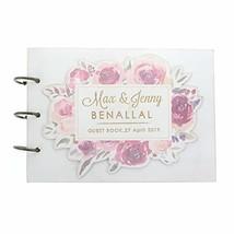 Floral Wedding Guestbook Personalized Wedding Sign in Book Custom Weddin... - $15.83