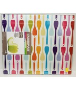 "LONG GLASS CUTTING BOARD, 12"" x 15"", KITCHEN UTENSILS, SPOONS by Farberware - $14.84"