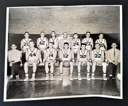 1957-58 antique WILSON HIGH SCHOOL orig BASKETBALL team PHOTO west lawn ... - $47.50