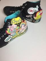 Converse Ltd Ed Chuck Taylor Mens 10 Comic Rainbow Skull Grafitti Black Sneakers - $49.45