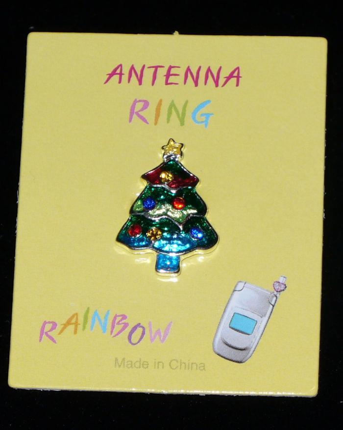 CHRISTMAS TREE Cell Phone Antenna Ring