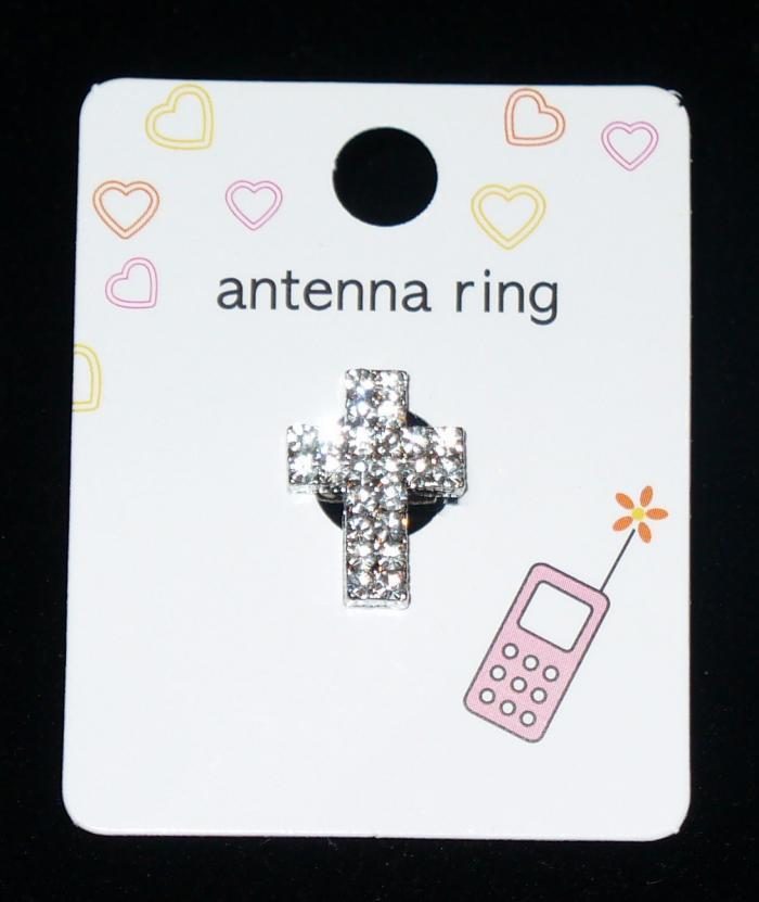CLEAR CROSS Cell Phone Antenna Ring