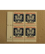 USPS Scott O133 $5 Official Mail USA 1983 Mint NH Plate Block 4 Stamps - $72.97