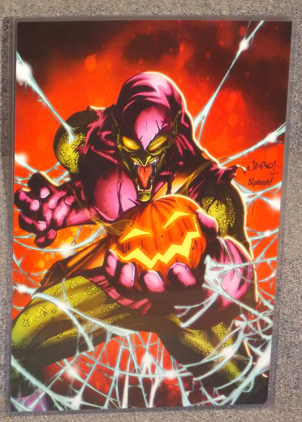Primary image for Marvel Spider Man Green Goblin Glossy Print 11 x 17 In Hard Plastic Sleeve