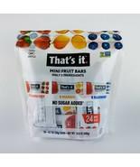 THAT'S IT 24 Pack Mini Fruit Bars Strawberry Mango Blueberry Only 2 Ingr... - $22.72