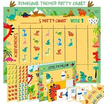 Potty Training Chart for Toddlers – Dinosaur Design - Sticker Chart, 4 W... - $11.74