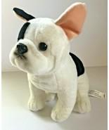 "Toys R Us Bulldog Puppy Dog Black White Plush stuffed animals 9""  - $24.13"
