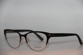 New Tom Ford Tf 5318 002 Black Eyeglasses Authentic Rx TF5318 53-17 W/CASE - $205.20