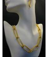 """Goldtone 20"""" Link Chain And Earrings Set New - $16.00"""
