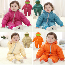 Baby Kid Toddler Boys Girls Winter Padded Onesie Romper Jumpsuit Outfit Snowsuit image 1