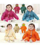 Baby Kid Toddler Boys Girls Winter Padded Onesie Romper Jumpsuit Outfit ... - $26.50+