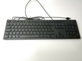 Dell Slim 580-ADMT USB Wired Keyboard Black Chiclet Style Keys (KB216) - $33.13