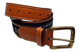 Tommy Hilfiger Men's Premium Ribbon Inlay Anchor Logo Leather Belt 11TL02X032 image 12