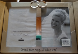 Malden,  Wedding Rings With this Ring, I Thee Wed- Picture Frame, 2 Option  - $17.98