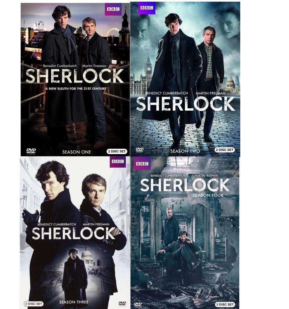 Sherlock: The Complete Series Season 1 2 3 & 4 [DVD Sets] BBC TV Show