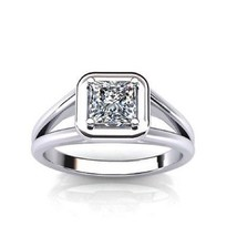 0.50ct Princess Diamond Solitaire Engagement Ring in Platinum  - $1,249.50