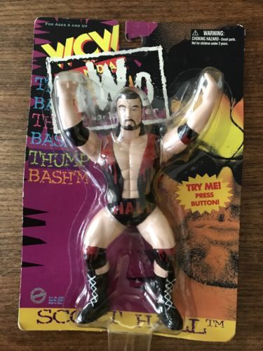"Primary image for 1997  WCW NWO ""Monday NITRO"" SCOTT HALL Vibrating Wrestling Action Figure MIB"