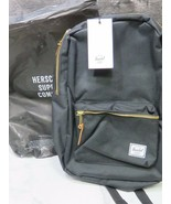 NEW w Tags Herschel Supply Settlement Mid-Volume Backpack Black - $49.50