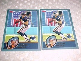 2 - 2003 topps Drew Brees - free shipping - $3.99