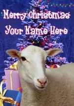 Sheep Merry Christmas Personalised Greeting Card Xmas codeXM221 - $3.93