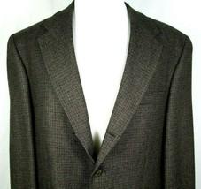 Chaps Ralph Lauren Sport Coat Mens Size 46 Regular 100% Wool Brown & Bla... - $31.64
