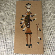 Navajo Sand Art Painting Signed & Described by Marie Billie New Mexico 6... - $22.05