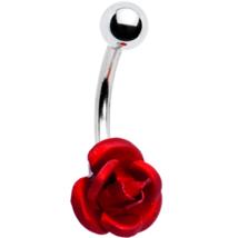 Ravishing Red Rose Belly Ring - $16.99