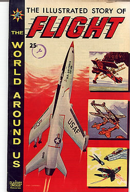 'Story of Flight' Classics Illustrated vintage comic  Bonanza