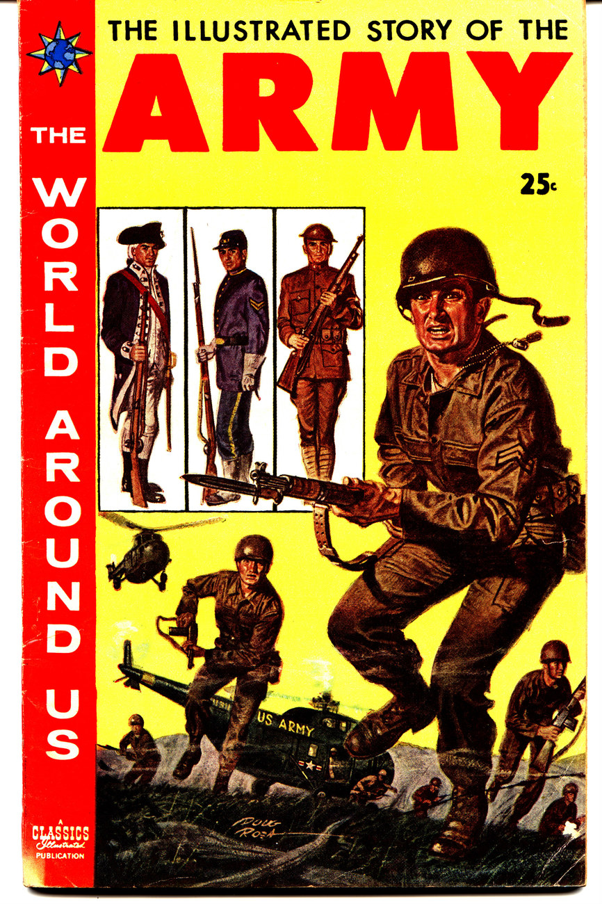 'Story of the Army' Classics Illustrated vintage comic  Bonanza