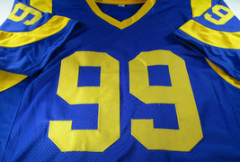AARON DONALD / AUTOGRAPHED LOS ANGELES RAMS CUSTOM FOOTBALL JERSEY / COA image 2
