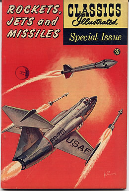 'Rockets Jets Missiles' Classics Illustrated vintage comic