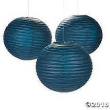 """18"""" Navy Blue Hanging Paper Lanterns - $39.49"""