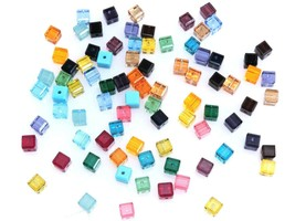 4pcs - 4mm Swarovski Crystal Cube Beads #5601 - You Choose The Color