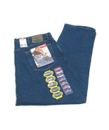 NWT Wrangler Hero Stretch Blue Men's Jeans 42 x 30 Regular Seat & Thigh - $19.75