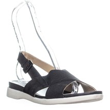 naturalizer Eliza Flat Ankle Strap Sandals, Black Leather - $35.99