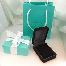 Tiffany & Co Necklace Presentation Black Suede and Blue Gift Box Jewelry... - $119.00