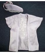 1980s Vtg Genuine Barbie Fashion Bed Jacket and Hanger Cover Floral Silh... - $17.81