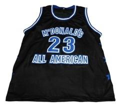 Michael Jordan #23 McDonalds All American New Basketball Jersey Black Any Size image 1