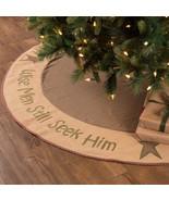 New Christmas WISE MEN TREE SKIRT 21 48 55 60 Diameter evergreen natural... - $29.21+
