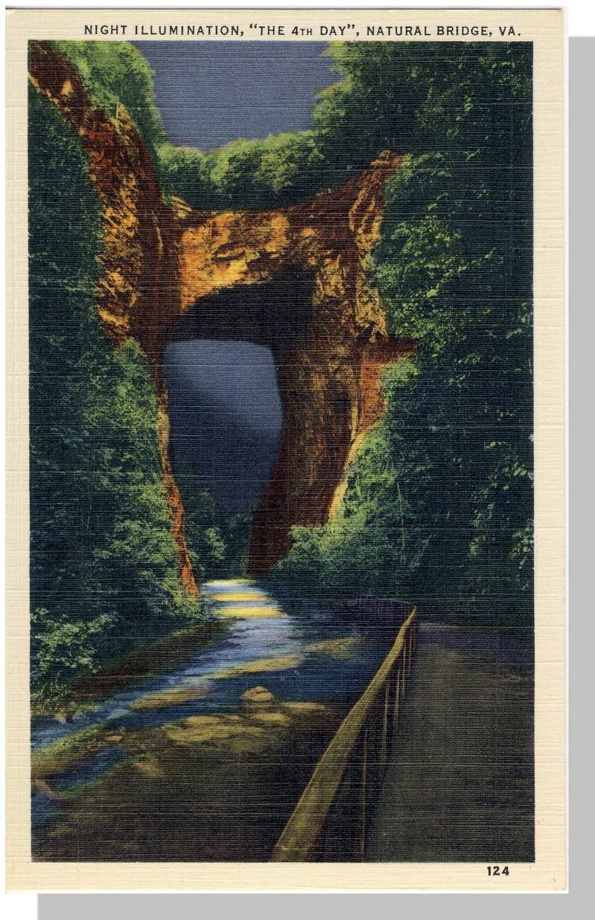 Va natural bridge night