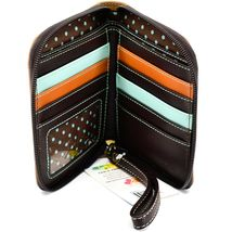 Chala Handbags Faux Leather Kitty Cat & Butterfly Zip Around Wristlet Wallet image 3