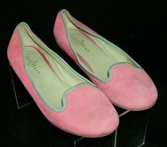 Cole Haan 'Air Morgan' pink nubuck suede round toe slip on smoking flats 7.5B - $33.30