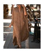 Leopard Print Over Size Beach Cove up Women Dress Cover ups for Swimwear... - $42.72