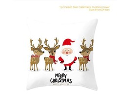 Merry Christmas Decoration For Home Santa Claus Reindeer Pillow Case - ... - $12.99