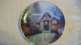 Woodsman's Thatch Cottage Collectors Plate by Thomas Kinkade Garden Cott... - $33.41