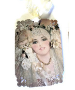 8 Gift Tags, Beautiful Bride in Lace and Pearls... - $4.00