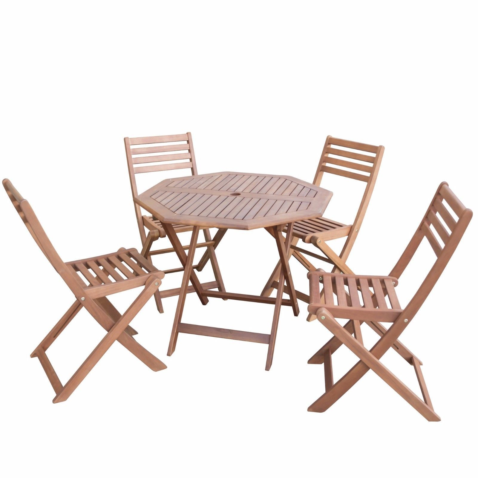 Patio dining set table 4 chairs garden furniture sets for Outdoor wood dining chairs